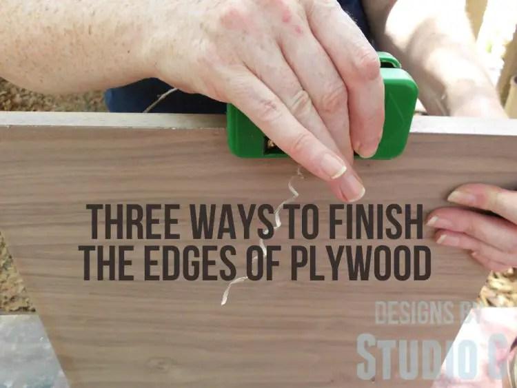 Three Ways To Finish The Edges Of Plywood