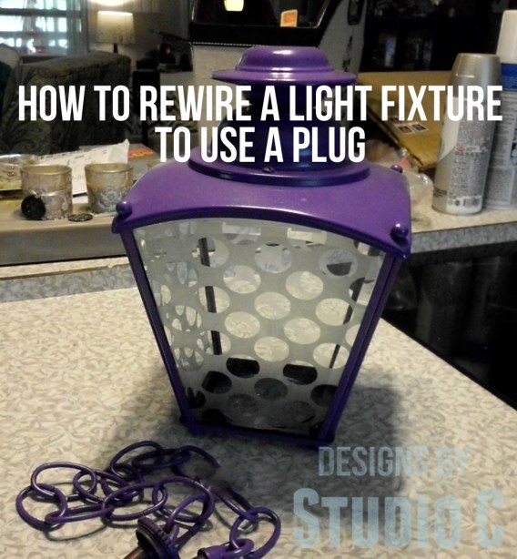 how to rewire a light fixture to use a plug SANY2409