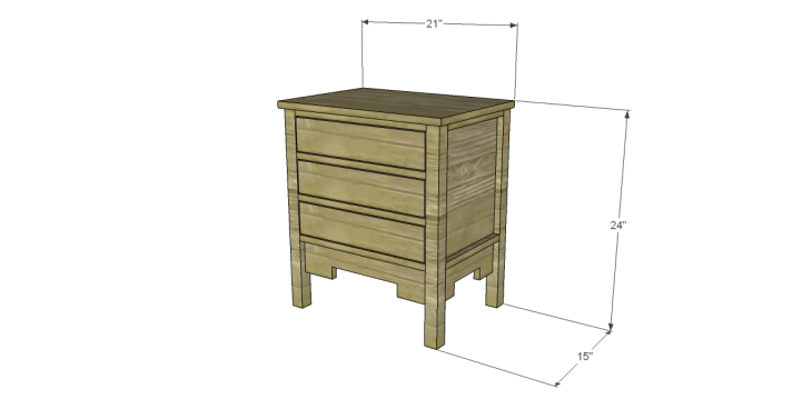 free DIY woodworking plans to build a monterrey side table