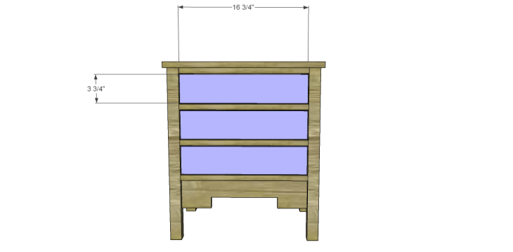 free DIY woodworking plans to build a monterrey side table_Drawer Fronts