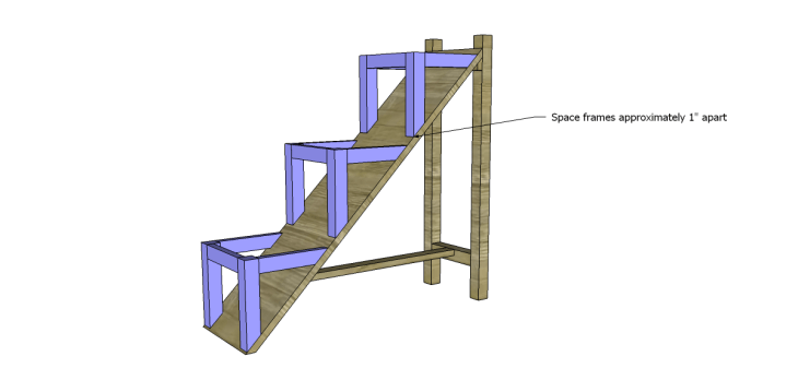 free DIY woodworking plans to build a ladder end table_Frames 2