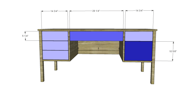 diy desk plans - ainsworth_Drawer Fronts
