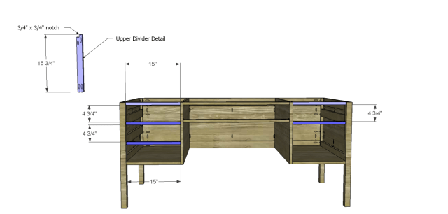 diy desk plans - ainsworth_Drawer Stretchers