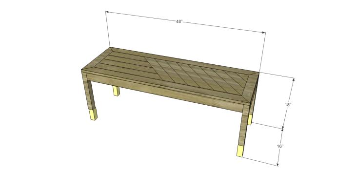 build diagonal slat bench