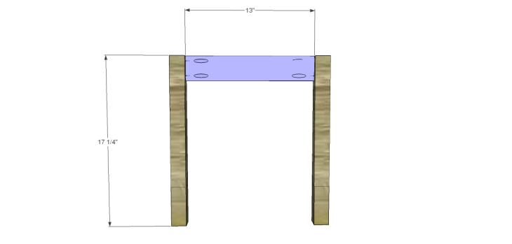 build diagonal slat bench_Sides