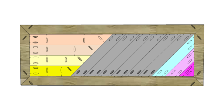 build diagonal slat bench_Top 2