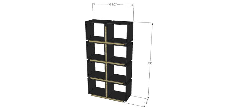 build cube bookcase divider