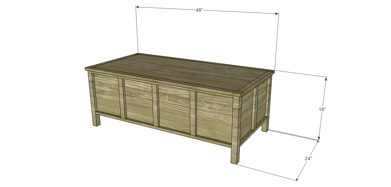 build trunk style coffee table click on the drawings for a larger view