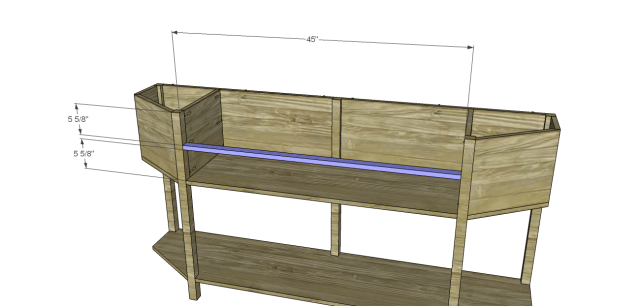 angled console table plans_Stretcher