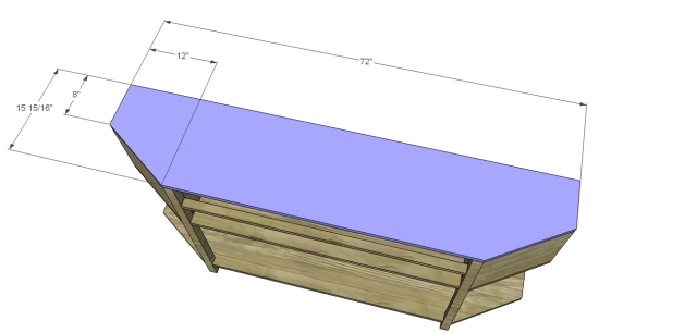 angled console table plans_Top