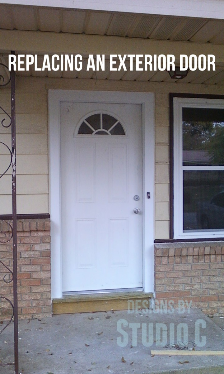 Replacing an exterior door designs by studio c for Front entry door installation