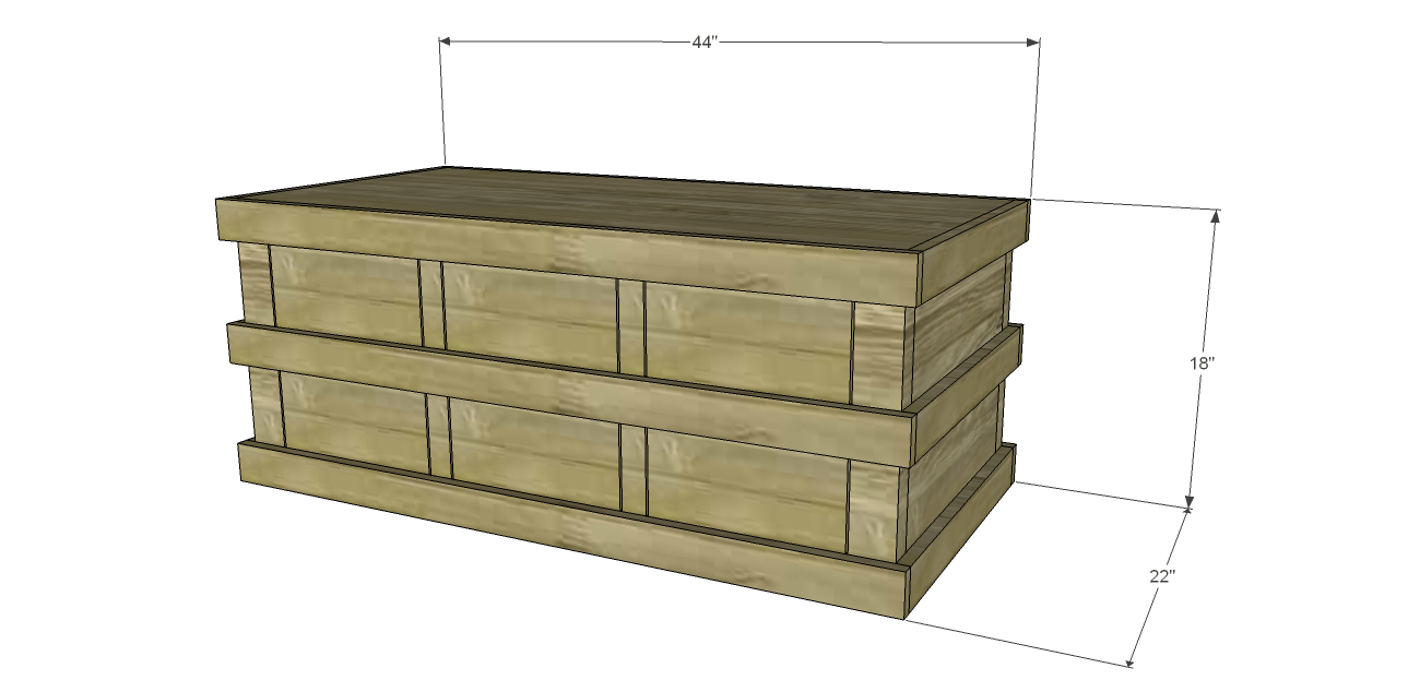 Build a TrunkStyle Coffee Table with DrawersDesigns by Studio C