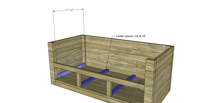 coffee table plans with drawers_Lower Spacers