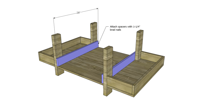 coffee table plans glass top drawers_Spacers