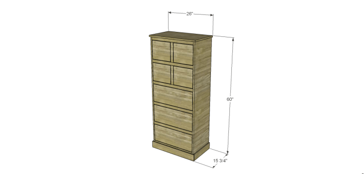 tall chest drawers plans