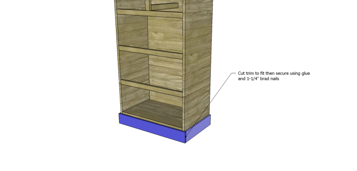 tall chest drawers plans_Trim