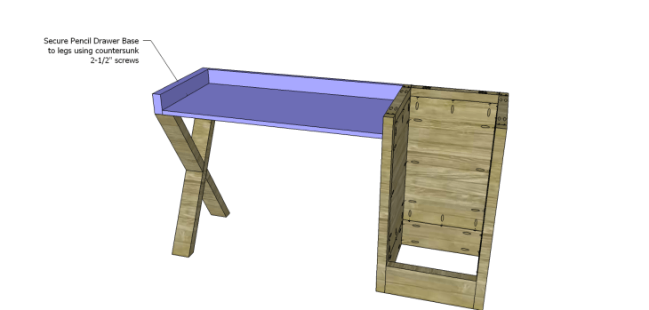 diy plans build desk_Pencil Drawer Base 2