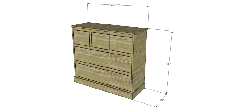 wide chest drawers plans
