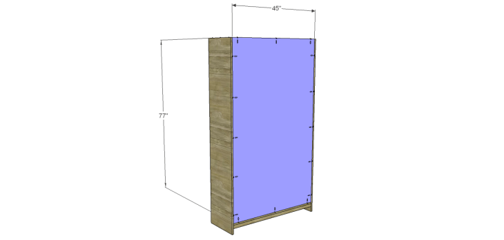 diy pantry armoire plans_Back
