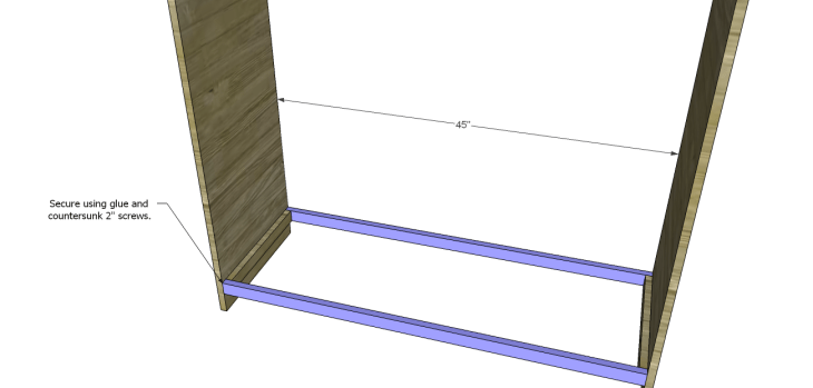 diy pantry armoire plans_Bottom Stretchers