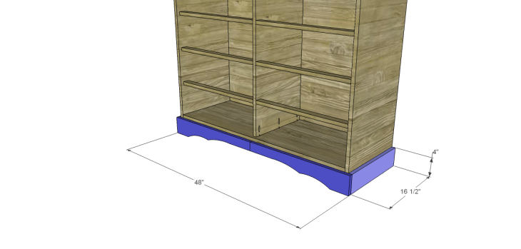 diy pantry armoire plans_Lower Trim