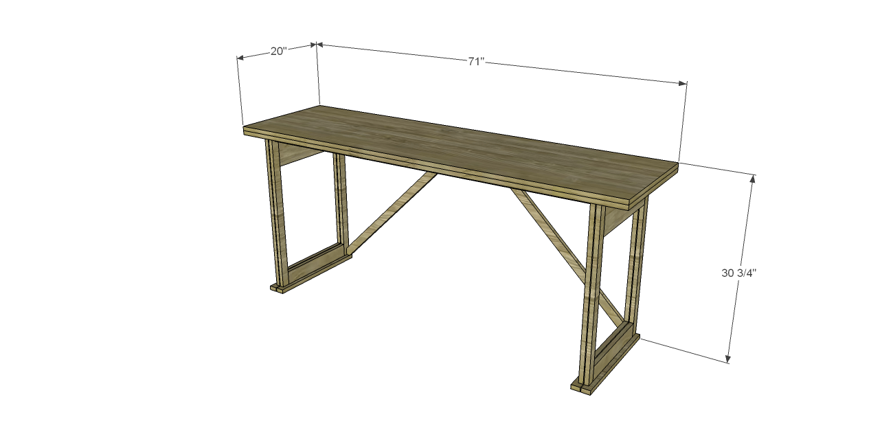 Build the architect 39 s table for Folding table plans free