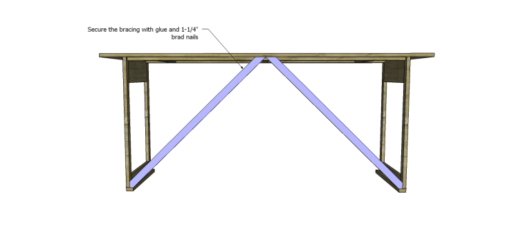 folding table plans_Bracing 3