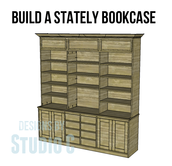 Build a stately bookcase designs by studio c for Building a bookcase for beginners
