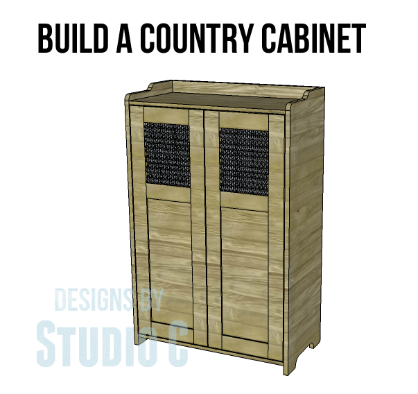 Built In Storage Cabinet Plans: Country Storage Cabinet Plans