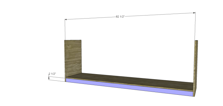 plans build large stately bookcase_Lower Kickplate
