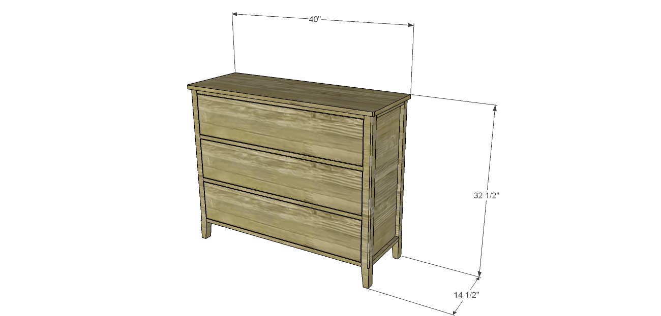 How to make dresser drawers - Cut List