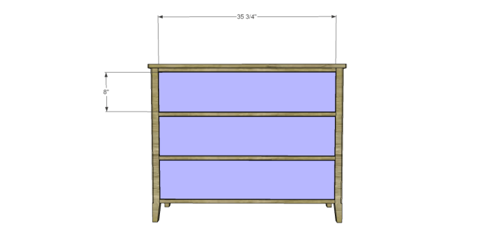 diy three-drawer dresser plans_Drawer Fronts