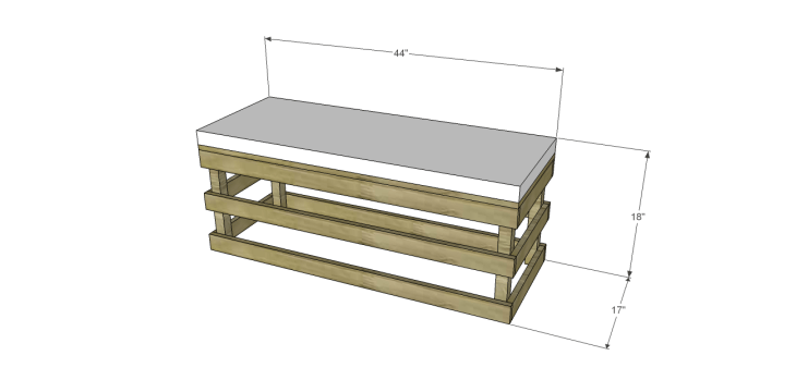 crate bench plans