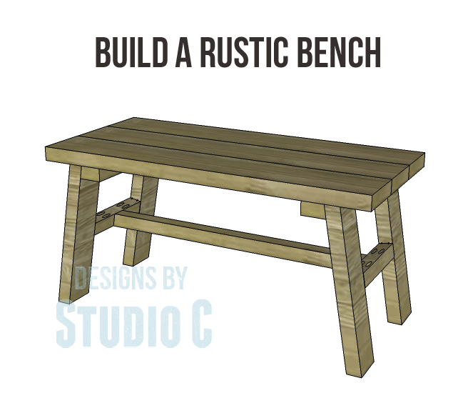 Build a rustic bench designs by studio c - How to make rustic wood furniture ...