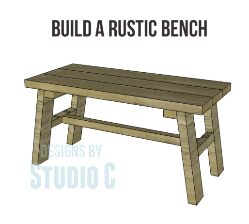 free furniture plans build rustic bench_Copy
