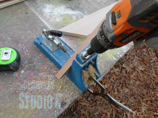 how to drill pocket holes in mitered corners SANY2854
