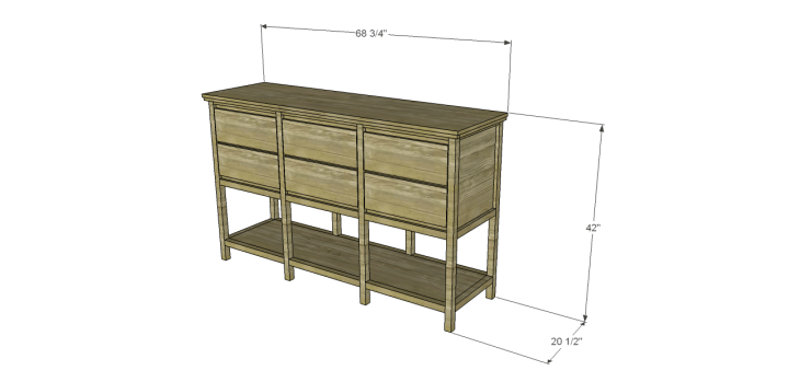 free furniture plans build sundown retreat sideboard