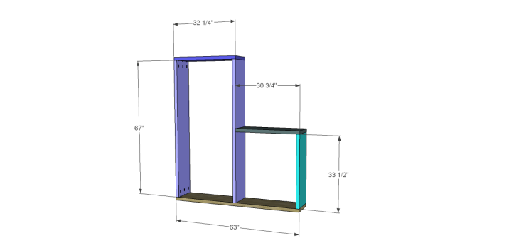 cascade bookcase plans_Frame