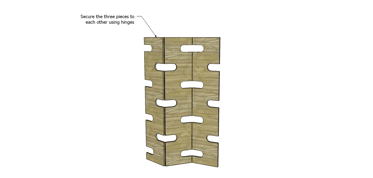 Attach The Panels To Each Other Using The Hinges The Two Outer Panels Will Face The Same Way While The Center Panel Will Be Flipped Over So The Hinge
