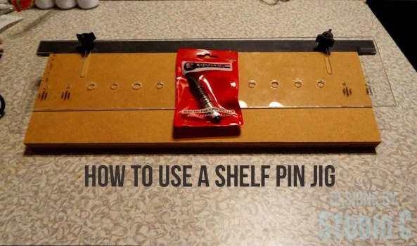 how to use a shelf pin jig DSCF1187