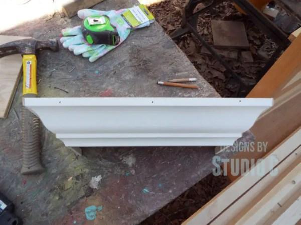 build a ledge shelf with crown molding DSCF1209