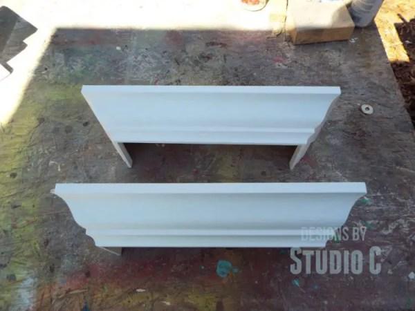build a ledge shelf with crown molding DSCF1211