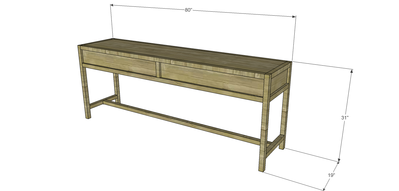 Easy Table Plans Sofa Table Plans