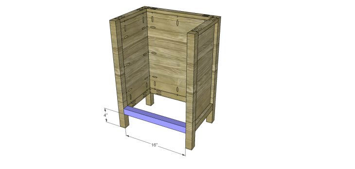 rustic wine cabinet plans-Lower Stretcher