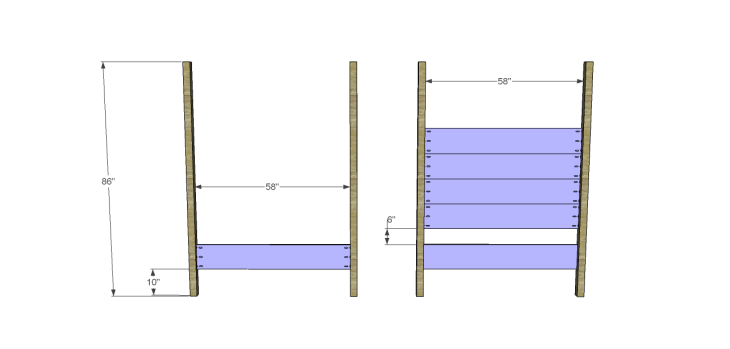 timberland queen bed plans-HeadFoot