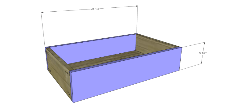 plans build esmerelda buffet-Center Drawer FB