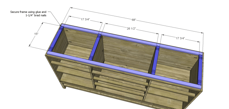 plans build esmerelda buffet-Top Frame