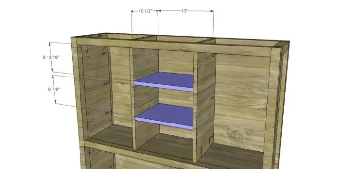 plans build ronen hutch-Center Shelves