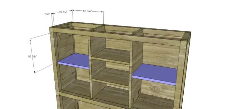 plans build ronen hutch-Side Shelves