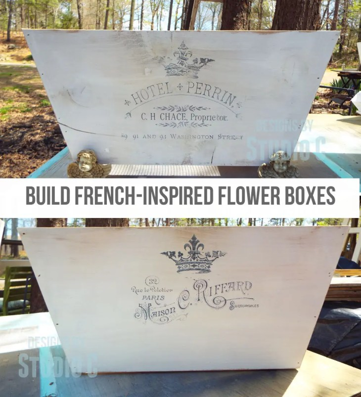 Collection of DIY Plans to Build Planter Boxes_French Flower Boxes